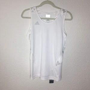 White Climacool adidas Performance Razor Back Tank